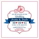 Ślubna zaproszenie karta Zdjęcia Royalty Free