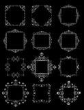 Ślubne dekoracyjne ramy (czarny i biały) Zdjęcia Stock