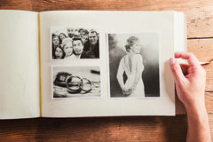 Ślubne fotografie fotografia stock