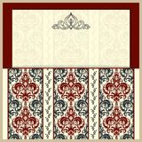 Ślubne karty i zaproszenia elementu dekoracyjny rocznik royalty ilustracja