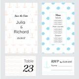 Ślubne karty w minimalnym stylu i żołnierzu piechoty morskiej Obraz Royalty Free