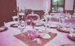 Ślubne Stołowe dekoracje Zdjęcia Stock