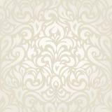 Ślubnego rocznika kwiecistego ecru tła tapetowy projekt Zdjęcia Royalty Free