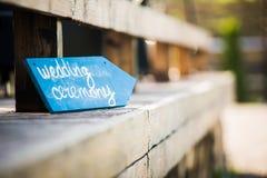Ślubnego wystroju ślubna ceremonia Zdjęcia Royalty Free