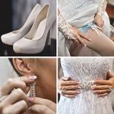 Ślubni akcesoria, panna młoda obrazy stock