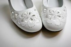 Ślubni buty Zdjęcia Royalty Free