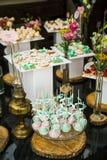Ślubni deseru torta wystrzały Fotografia Royalty Free