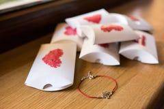 Ślubni keepsake pudełka Zdjęcia Royalty Free