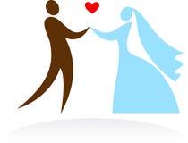 Ślubni momenty - 4 Obrazy Stock