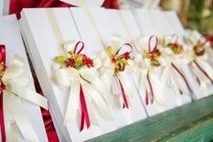 Ślubni prezenty dla gościa obraz stock