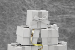 Ślubni przysług pudełka Zdjęcia Royalty Free