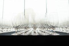 Ślubni szampańscy szkła Obrazy Stock