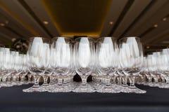 Ślubni szampańscy szkła Obrazy Royalty Free