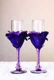 Ślubni szkła Fotografia Stock