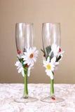 Ślubni szkła Zdjęcie Royalty Free