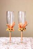 Ślubni szkła Zdjęcie Stock