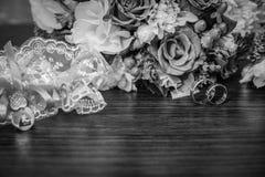 Ślubni temat, symboliczny miłość i romans fotografia royalty free