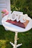 Ślubni temat, symboliczny miłość i romans zdjęcia stock
