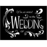 Ślubni zaproszeń sformułowania z kwiecistymi elementami royalty ilustracja