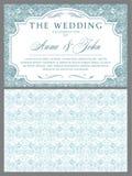 Ślubni zaproszenia w baroku stylu royalty ilustracja