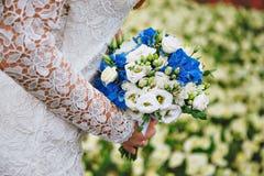 Ślubny błękitny bukiet Obraz Stock