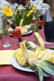 Ślubny bankiet - owocowy szczegół Zdjęcia Royalty Free