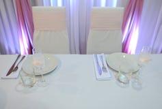 Ślubny bankieta stołu położenie Obraz Stock