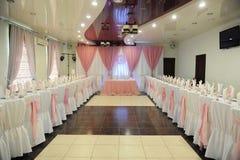 Ślubny bankieta stołu położenie Obraz Royalty Free