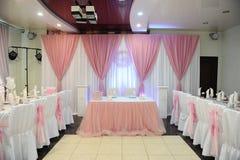 Ślubny bankieta stołu położenie Fotografia Stock