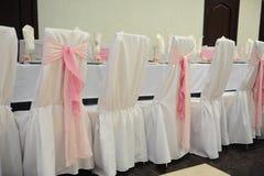 Ślubny bankieta stołu położenie Zdjęcie Stock
