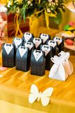 Ślubny bonbonniere dla gościa Zdjęcia Royalty Free