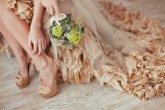 Ślubny boudoir Zdjęcie Royalty Free