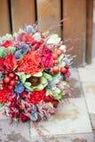 Ślubny bouquete na podłoga Zdjęcia Stock