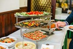 Ślubny bufet dla wydarzeń zdjęcie royalty free