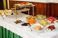 Ślubny bufet dla wydarzeń obrazy stock
