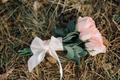 Ślubny bukiet, kwiaty, róże, piękny bukiet Fotografia Royalty Free