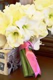 Biały ślubny bukiet Obrazy Stock