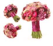 Ślubny bukiet z Astrantia, Skimma, Brassica, różany krzak, Biegał Zdjęcie Stock