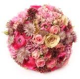 Ślubny bukiet z Astrantia, Skimma, Brassica, różany krzak, Biegał Obraz Stock