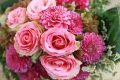 Ślubny bukiet z różami i cloves Zdjęcia Royalty Free