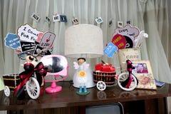 Ślubny cukierku bufeta stół Zdjęcia Stock