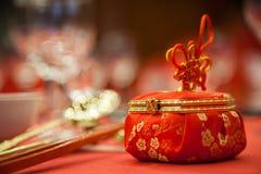 Ślubny cukierku pudełko Zdjęcia Royalty Free