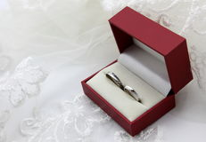 Ślubny diamentu pierścionek Obraz Stock