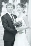 ślubny fotografii państwo młodzi zdjęcie royalty free