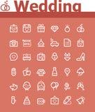 Ślubny ikona set Zdjęcia Royalty Free