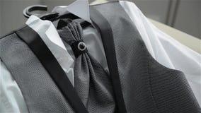 Ślubny kostium, piękny krawat, świąteczny kamizelkowy, uczta, wydarzenie, menswear zbiory