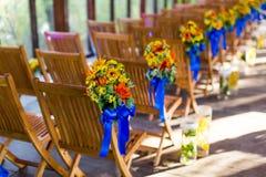 Ślubny krzesło zdjęcia stock