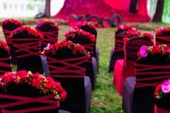 Ślubny krzesło obraz royalty free