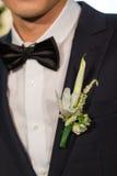Ślubny kwiat dla nowożena Zdjęcie Royalty Free