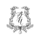 Ślubny materiały ornament Zdjęcie Royalty Free